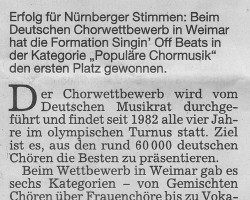 Nürnberger siegten in Weimar