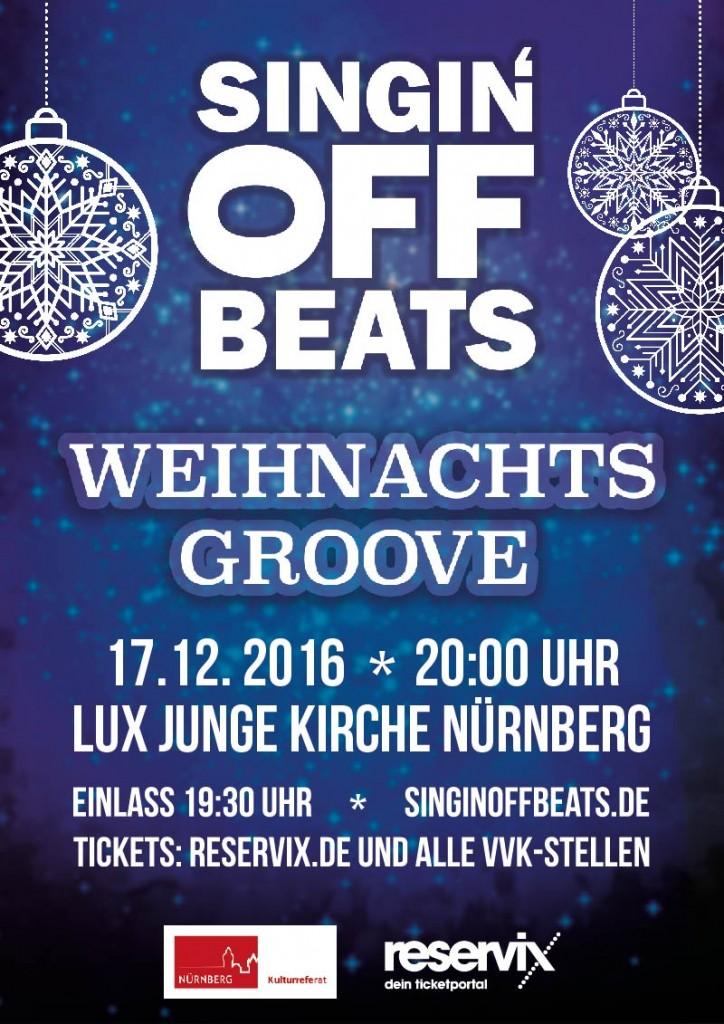 Singin' Off Beats Weihnachtsgroove Konzert Nürnberg Advent Weihnachten
